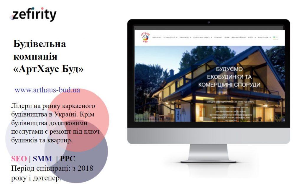 просування сайту каркасного будівництва на WordPress