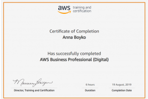 AWS Certificate Anna Boiko