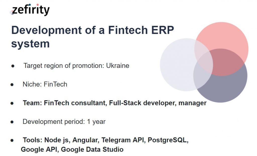 Development of a fintech ERP system