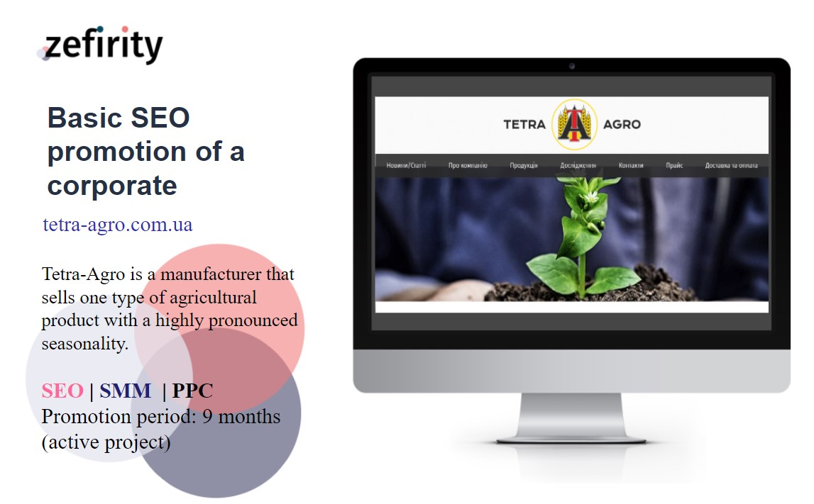Basic SEO promotion of a corporate site