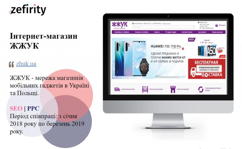 SEO кейс інтернет-магазин ЖЖУК